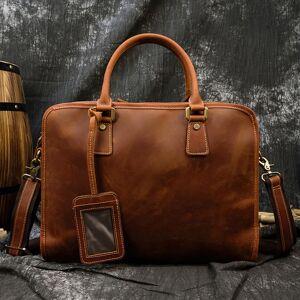 DHgate maheu genuine briefcase from lap15.6 polegada men working suitcase tote office portfolio man business bag attache leather case
