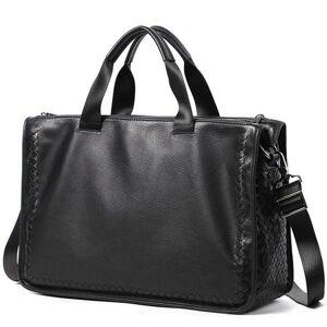 DHgate fashion genuine leather bag sheepskin business men messenger bags men briefcases new designer male lap15.6inch