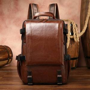 DHgate maheu leather 15.6 polegada bag from the women's lapof genuine men's computer soft cowskin daypack backpack