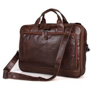 DHgate 2020 leather men suitcase bag horse crazy shoulder courier bags famous trademark office business handbag for 15.6 portable inch 75g3