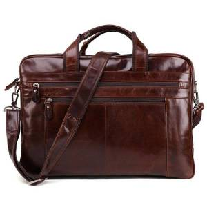 DHgate joyir business cow leather briefcase for men retro genuine leather multifunction laphandbags 15.6 inch vintage leisure 2020