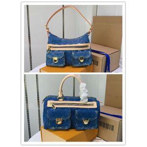DHgate designer luxury buggy gm denim 2way diagonal hanging denim women 's buggy gm blue cotton shawl blue shoulder hand bag size: 30 -25 -14