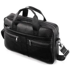 DHgate 2021 men's bag genuine leather lapbag for 14 inch tablet messenger document bags office computer bags male briefcases totes