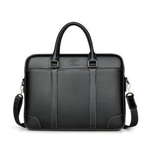 DHgate new luxury cow genuine leather business men's briefcase male briefcase shoulder bag men messenger bag15.6 inch tote computer bag