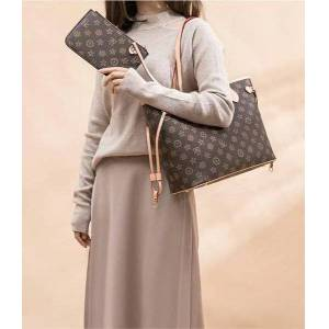 DHgate 4 colors lattice 2pcs set totes women handbag ladies shoulder bags handbag lady clutch totes shoulder bags #5188