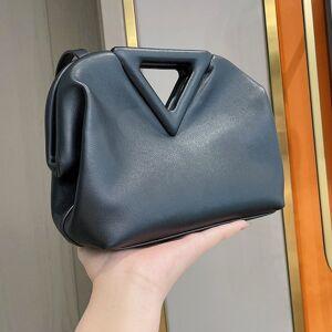 DHgate 75% off luxury handbag 2021 new dumplings the leather fold one shoulder clip candy triangle cloud bag e4q4