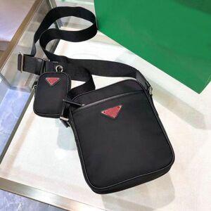 DHgate 2vh112 double suit canvas leather cowhide men's shoulder bag handbag parachute cloth large-capacity one-shoulder messenger two
