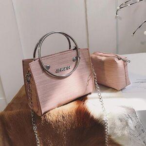 DHgate 2 bag 2021 fashion new women handbags high-quality pu leather tote handbag women's handbags ring chain shoulder bag