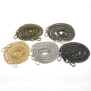 DHgate bag parts & accessories long purse chain metal strap replacement for handbag belts shoulder handle 120cm gold silver bronze diy