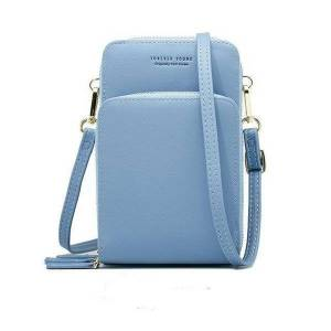 DHgate crossbody cell phone shoulder bag fashion 3 layer card holder for women wallet daily use mini cross body