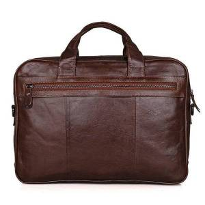 DHgate briefcases men briefcase genuine leather shoulder bag messenger bags luxury travel tote business man office handbag for 15.6 inch lap yhif