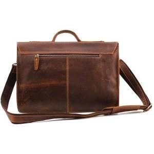 DHgate briefcases joyir crazy horse leather men's briefcase retro business genuine laphandbags 15.6 inch leisure tote for document 1 0s26