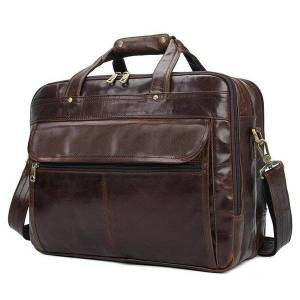 DHgate luxury black mens leather handbags soft lapbag 14 14.6 15 15.6 inch shoulder briefcase notebook handbag briefcases