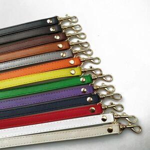 DHgate bag parts & accessories 120cm pu solid color strap silver hardware leather shoulder diy purse handle women handbags belts