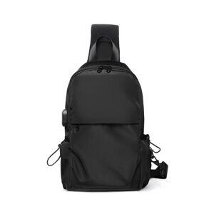DHgate duffel bags 2021 spring polyester gray chest bag usb charging tablet shoulder diagonal custom manufacturer