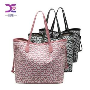 DHgate messenger bags messenger bagsbig fashion women's 2021 2-piece cover mother one shoulder tote printed hand-held lady's bag