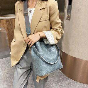 DHgate evening bags large capacity vintage pu leather crocodile pattern shoulder for women 2021 designer bucket crossbody bag totes handbags