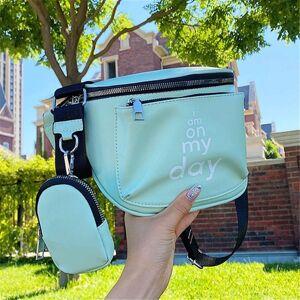 DHgate women's fashion small crossbody bag 2-piece ladies shoulder bags casual messenger semicircle belt cross body