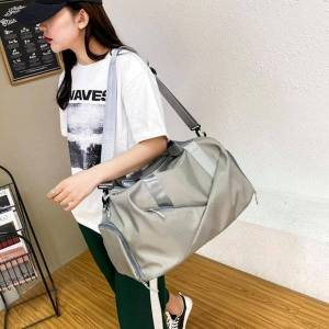 DHgate duffel bags women shoulder fashionable oxford cloth foldable large capacity travel training handbags luggage tote