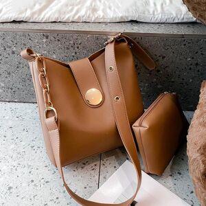 DHgate casual solid color bucket crossbody bags for women 2021 chain messenger bag 2 pcs/set female shoulder women's handbags cross body