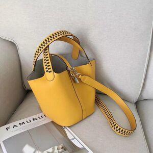 DHgate 75% off luxury handbag 2021 new cowhide basket shoulder bucket women's woven cross mother bag summer ah2r