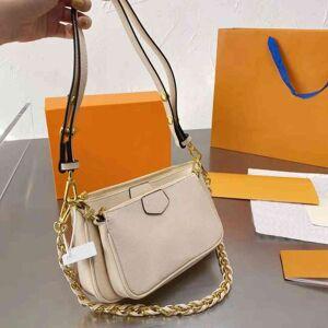 DHgate branded crossbody handbag designer tote bag mini luxurys bags two-piece suit lu ladies 4-color leather date code wallet hand single shoulder