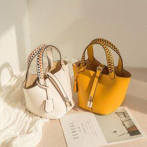 DHgate 75% off luxury handbag new type cowhide portable one shoulder leather women's palm weave vegetable basket bag zw2m