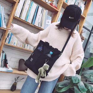 DHgate backpack canvas women handbag shoulder bags large capacity simple folding tote shopping bag girl bookbags