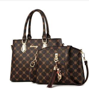 DHgate trend fashion 2 in 1 women's designer luxury handbag female package capacity crossbody messenger bag shoulder bags duffel