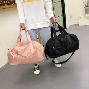 DHgate duffel bags casual oxford cloth women shoulder large capacity luggage fashion solid color ladies fitness travel tote handbags