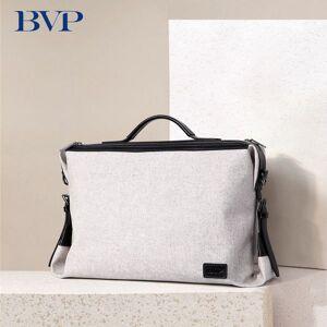 """DHgate bvp canvas&cow leather men briefcase leisure man large capacity shoulder messenger 15.6"""" lapbusiness bag 50"""