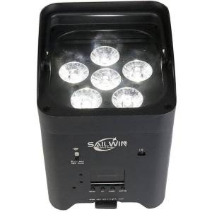 DHgate spain stock battery powered wedding led uplight 6x18w rgbaw uv rechargeable stage lighting for disco party event phone control app wifi led