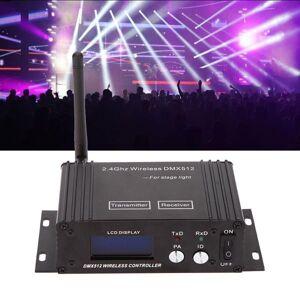 DHgate effects dj 2.4g wireless dmx 512 controller transmitter receiver lcd display power adjustable lighting