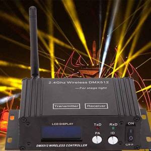DHgate effects professional 2.4g wireless dmx 512 controller transmitter receiver lcd display power adjustable lighting