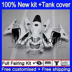 DHgate +tank for kawasaki ex-250 zx250r 2008 2009 2010 2011 2012 201my.41 white black ex250 zx 250r ex 250 zx-250r ex250r 08 09 10 11 12 fairing