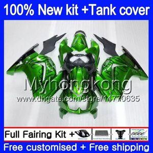DHgate +tank for kawasaki ex-250 zx250r 2008 2009 2010 2011 2012 201my.50 nice green ex250 zx 250r ex 250 zx-250r ex250r 08 09 10 11 12 fairing