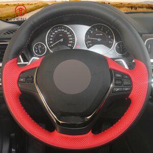 DHgate black red leather car steering wheel cover for bmw f20 f21 f22 f23 118i 120i 125i 120d 218i 228i 420i 430i 435i 428i