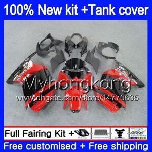 DHgate +tank for kawasaki zx-250r ex-250 zx250r 08 09 10 11 12 201my.26 ex250 zx 250r ex 250 ex250r 2008 2009 2010 2011 2012 red blk fairings