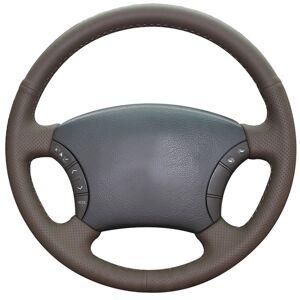 DHgate dark brown natural leather car steering wheel cover for toyota land cruiser prado 120 land cruiser 2003-2007 tacoma 2005-2011