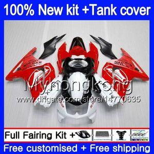 DHgate +tank for kawasaki ex-250 zx250r 2008 2009 2010 2011 2012 red white 201my.42 ex250 zx 250r ex 250 zx-250r ex250r 08 09 10 11 12 fairing