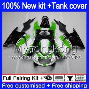 DHgate +tank for kawasaki zx-250r ex-250 zx250r 08 09 10 11 12 201my.30 ex250 zx 250r ex 250 ex250r 2008 2009 2010 2011 2012 fairings white green