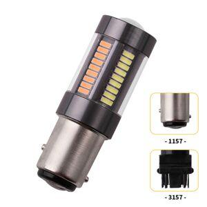 DHgate 1pcs dual color 1157 p21/5w bay15d t25 3157 w21/5w 4014 66 smd auto led bulbs turning lights car brake lamp drl white amber 12v