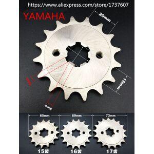 DHgate 1pcs yamahamotorcycle sprocket/front engine sprocket 15t 16t 17t teeth / motorcycle small sprocket