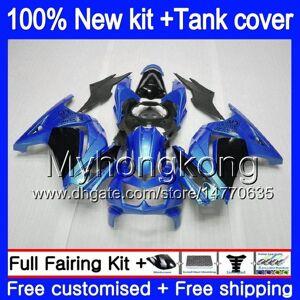 DHgate +tank for kawasaki ex-250 zx250r 2008 2009 2010 2011 2012 201my.59 ex250 zx 250r ex 250 zx-250r ex250r 08 09 10 11 12 fairing sale blue