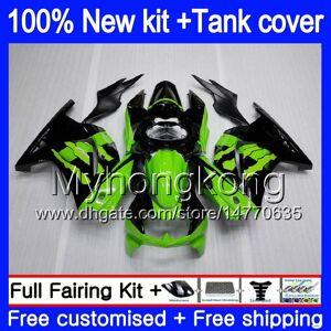 DHgate +tank for kawasaki ex-250 zx250r 2008 2009 2010 2011 2012 201my.40 ex250 zx 250r ex 250 zx-250r ex250r 08 09 10 11 12 green black fairing