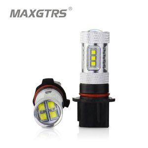 DHgate 2x 30w 50w 80w car p13w sh24w drl cree chip led xbd front daytime running light fog light drl replacement bulbs white/red/amber