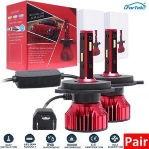 DHgate fortek 2pcs car headlight mini lamp h7 led bulbs h4 h1 h7 h8 h11 headlamps kit 9005 3 9006 4 for auto 12v 60w 8000lm
