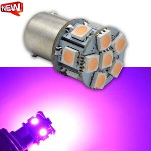 DHgate 1pc 6v 12v 24v 1156py bau15s py21w 7507 motorcycle led bulbs for cars turn signal lights pink ighting 12smd