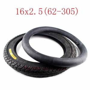 DHgate 16x2.50 62-305 inner outer tire fits electric bike boy's bike schwinn convertible tricycle 16x2.5 16*2.5 electric bicycle tyre