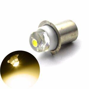 DHgate 1pc 4300k 6000k led upgrade bulb for torches work light lamp p13.5s pr2 0.5w ac4.5v 6v c+d cell cells